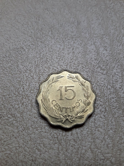 Paraguay,15 Centimos 1953