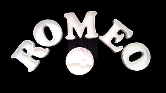 6 Letras 16cmcb +1 Figura Huecas Polyfan 20cm Para Rellenar
