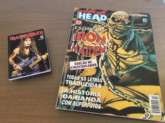 Iron Maiden Metal Head + Mini Book Nº 1 Livro Revista Letras