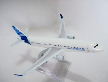 Miniatura De Avião Metal A320 Airbus Com Base Acrílico