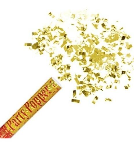 5 Lança Confete Dourado Chuva Papel Picado