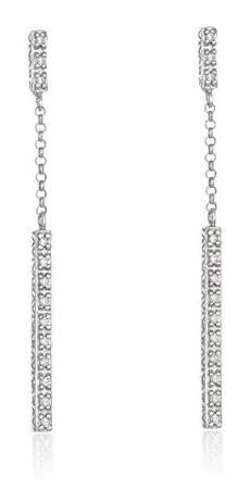 Par Brinco Ouro Branco Diamantes Vivara Agave Original Usado