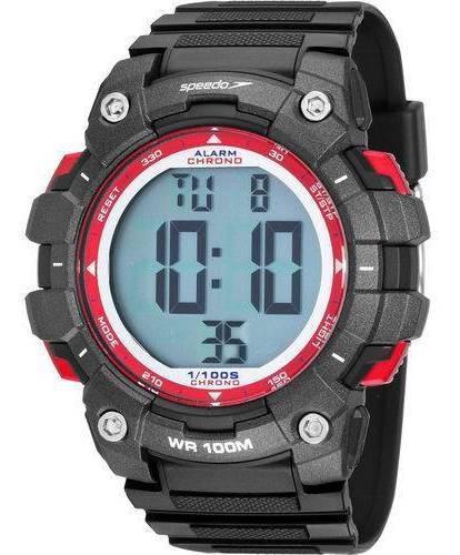 Relógio Speedo Masculino Esportivo Digital Preto E Vermelho 80644g0evnp1 Com Garantia E Nota Fiscal