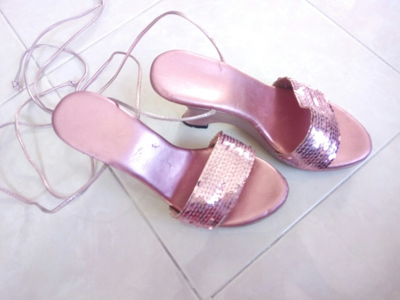 Bonitos Zapatos Sandalias Muy Comodos Tacon Corrido. #3
