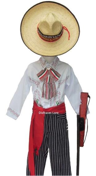 Disfraz Caporal Sombrero Revolucioario Niños Envio Gratis