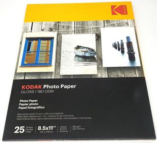 Papel Fotográfico Brillante A4 180 Gr Kodak X 25 Unidades