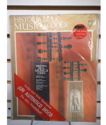 Historia De La Musica Codex 60 Fasiculo Y Disco Lp Acetato