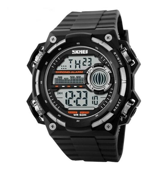 Relógio Digital Masculino Skmei Digital 1115 - Preto E Prata