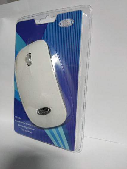 Mouse Optico Usb De Alta Precisão Branco/prata