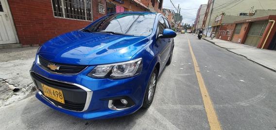 Chevrolet Sonic 2018 Hb Lt Azul Full Equipo
