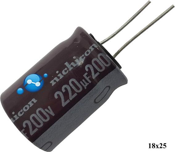Capacitor 200v 220uf Placa Fonte Hp M1132 M1212 M1120 25x18