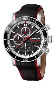 Relógio De Pulso Suíço Wenger Roadster Black Night Cronográf