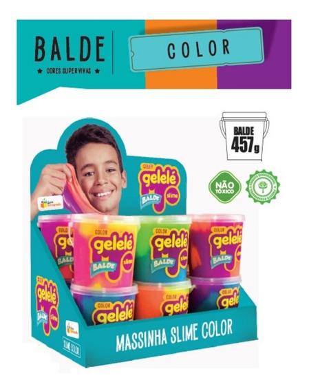 Gelelé Slime Meleca 12 Unid Color Pote 457gr Frete Grátis