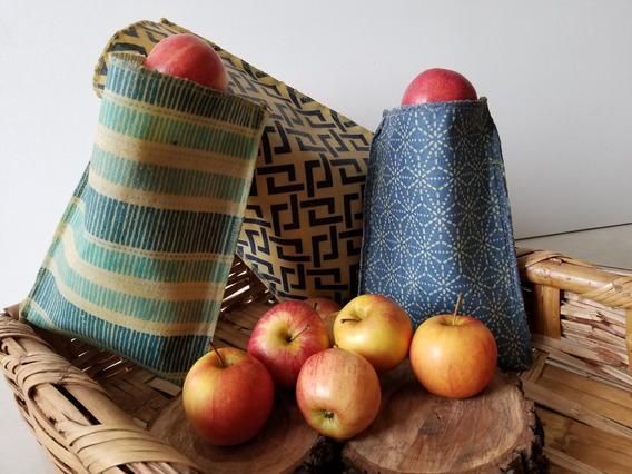 Bolsa Reutilizable De Tela Con Cera De Abeja Beewax Wrap Bag