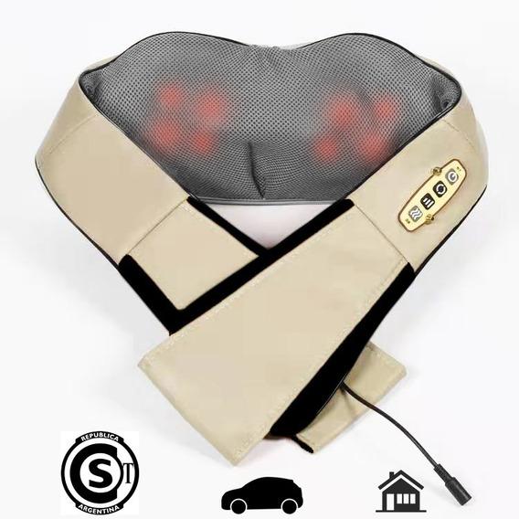 Masajeador Caliber Cervical Lumbar Calor 8 Rodillos Deluxe