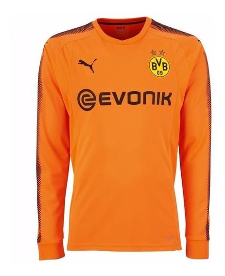 Camisa Borussia Dortmund Laranja 17-18 Gk Ml Importada