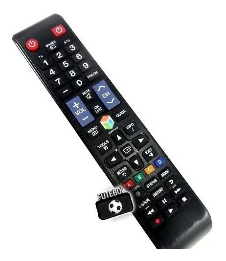 Controle Samsung Tv Lcd Smart Com Tecla Futebol