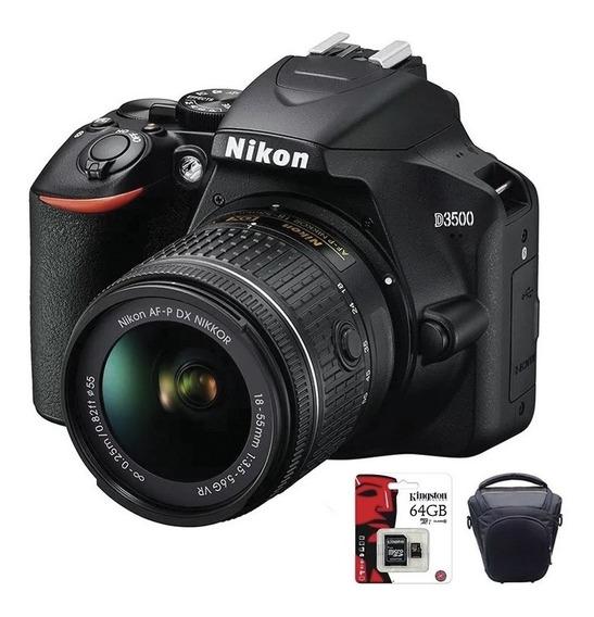 Camara Nikon D3500 Reflex Profesional 18-55mm + Bolso + 64gb