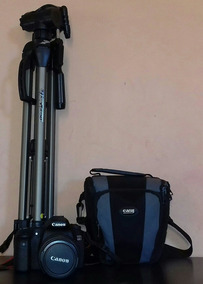 Kit Canon 60d + Lente 18-135+case+tripé+cartão 16gb