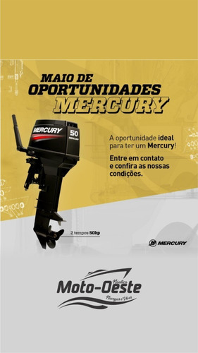 Motor De Popa Mercury 50 Hp 2t Partida Manual