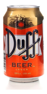 Pack X6u Cerveza Duff Beer 330 Ml Los Simpsons Importada