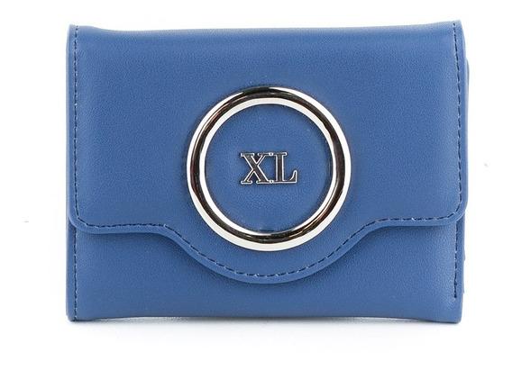 Billetera Mujer Xl Extra Large Nora Azul
