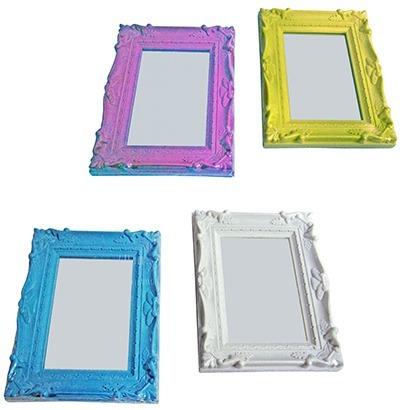 Espelho Pequeno Antique Retrô De Mesa Maquiagem Colorido