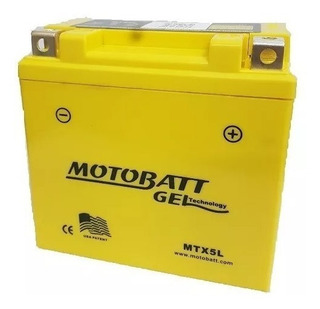 Bateria Motobatt Mtx5l 85cca Ytz6s Pcx/xr230/xt225/cg150-esd