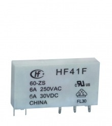 Rele De Interface Slim Miniatura Hf41f 24-zs