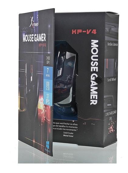 Mouse Gamer Knup Kp V4 2400dpi Led 7 Cores Usb 2.0