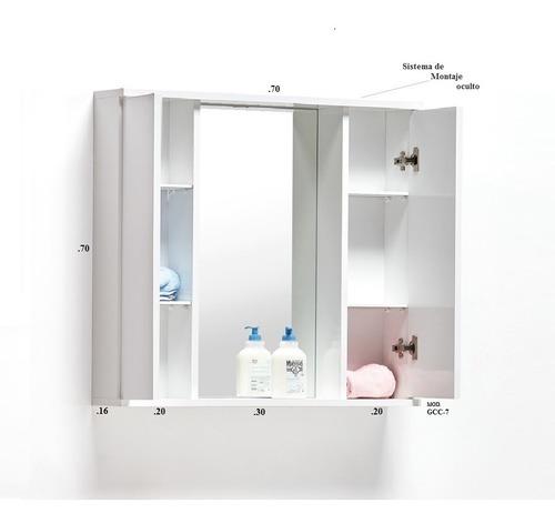 Mueble Modular Aéreo En Melamina Para Baños Mod. Gcc-7