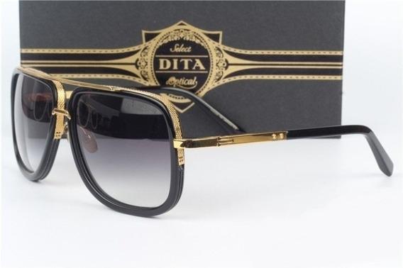 Oculos De Sol Original Dita Gold 18k Completo