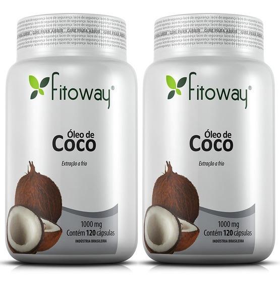 Óleo De Coco 1000mg - Fitoway - 2x120 Cápsulas
