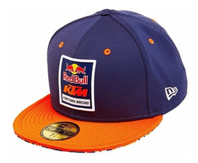 Gorra Plana Oficial Red Bull Ktm Fitted Talla 7 1/4 57.7 Cm