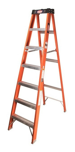 Escalera De Tijera  Fibra De Vidrio Plegable 6 Escalones Akron 80-94