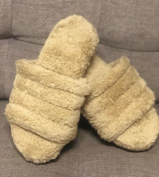 Pantuflas Mujer Invierno Piel Peluche Moda