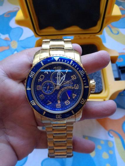 Relógio Invicta Banhado A Ouro Original
