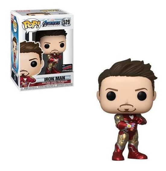 Funko Pop Avengers Endgame Iron Man Nycc Sticker Oficial