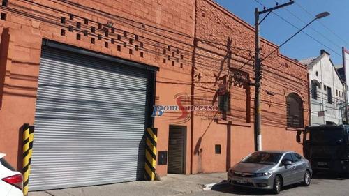 Galpão À Venda, 2960 M² Por R$ 8.500.000,00 - Mooca - São Paulo/sp - Ga0266