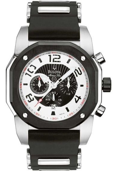 Relógio Bulova Masculino Cronógrafo Marine Star Wb31041p