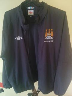 Agasalho Manchester City - Xl (gg) - Cinza Chumbo - 2010/11