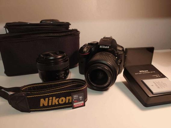 Nikon D5300 + 2 Lentes + Cartão Sd + Bag!