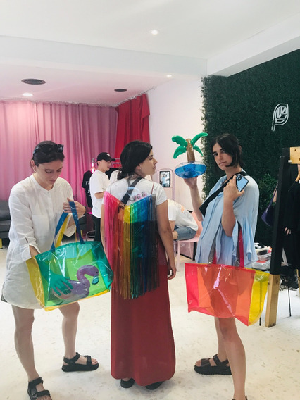 Bolso Tote Bag Multicolor Pvc