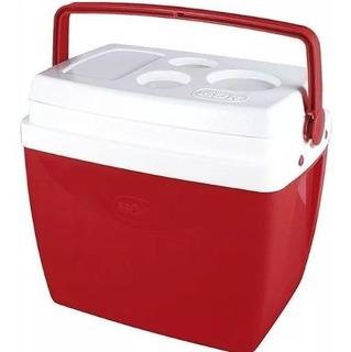 Caixa Térmica Mor 26 Litros Vermelha Cooler 35 Latinhas