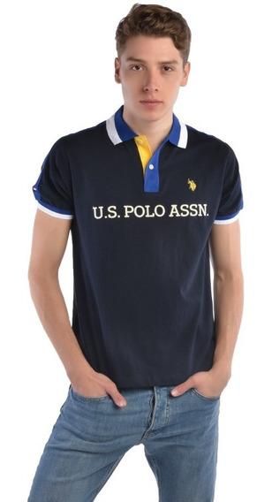Polo Custom Fit U.s. Polo Multicolor Uslpm447400 Hombre