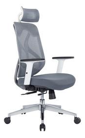 Cadeira Presidente Corinto Cinza E Branca
