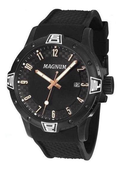 Kit Relógio Masculino Magnum Analógico Ma34414c - Preto