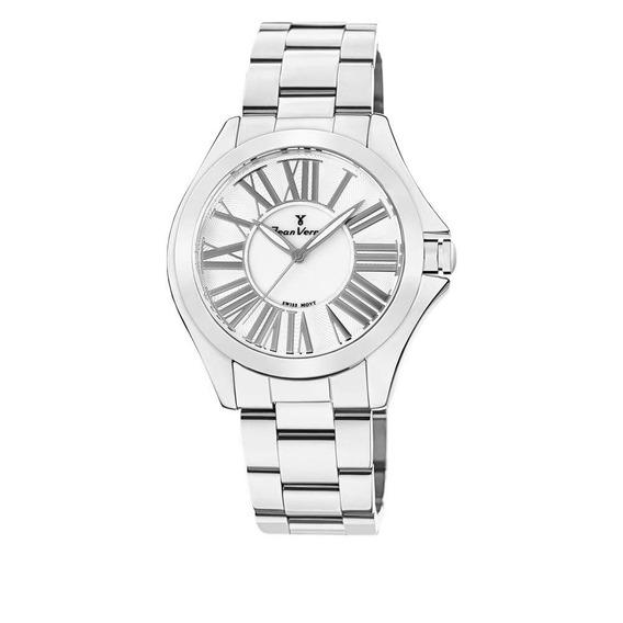 Relógio Jean Vernier Feminino Ref: Jv1124 Fashion Prateado