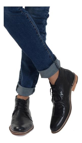 Zapatos Hombre Botitas Vestir Moda Cruelty Free Eco Cuero