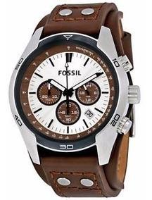 Relogio Masculino Fossil Coachman Couro Fch2565/z Original